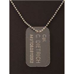 Cynthia Scott 'Corporal Dietrich' dog tag from Aliens.