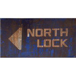 Aliens set dressing miniature cutouts and 'North Lock' miniature sign.
