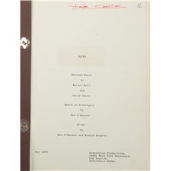 Art Director Roger Christian personal hand-annotated script for Alien.