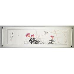 Chang Zhenhuan Chinese Watercolor Bird Scroll