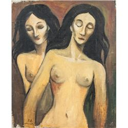 Edvard Munch Norwegian Expressionist Oil on Board