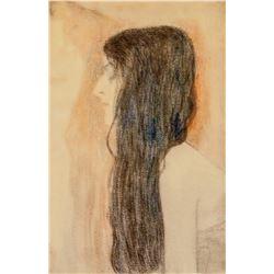 Gustav Klimt Austrian Signed Lithograph 19/100