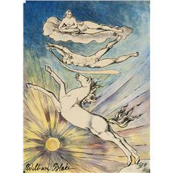 William Blake British Romanticist Mixed Media