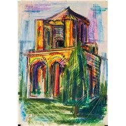 Robert Falk Russian Modernist Pastel on Paper