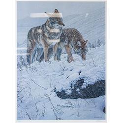 "Ron Parker ""Winter's Storm"" Signed Litho 705/950"