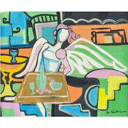 Le Courbusier French-Swiss Modernist Oil on Canvas
