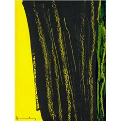 Hans Hartung French-German Modernist Oil on Canvas