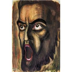 Otto Dix German Expressionist Mixed Media on Paper