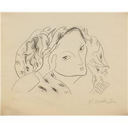 Henri Matisse French Fauvist Graphite on Paper