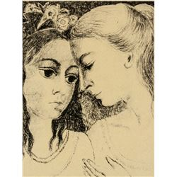 Paul Delvaux Belgian Signed Etching 27/75