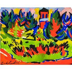 Erich Heckel German Expressionist Oil Gouache