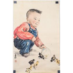 Jiang Zhaohe 1904-1987 Chinese Watercolor and Ink