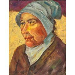 """Oil on Canvas Signed V. Faulkner """"1926"""""""