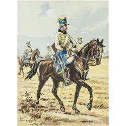 Pierre Albert Leroux 1890-1959 French Watercolor