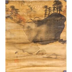 Cheng Zhang Chinese Watercolor on Silk