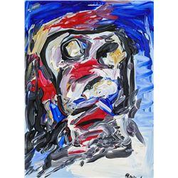 Karel Appel Dutch Abstract Oil on Canvas Portrait