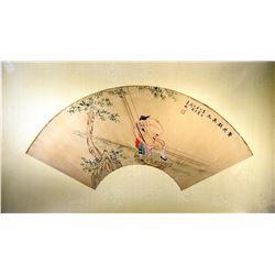 Zhou Muqiao 1860-1923 Chinese Watercolor Erotic
