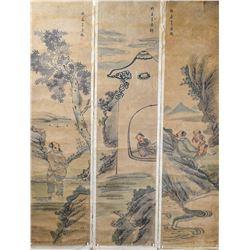 Wu Donghuai 1853-1904 Chinese Watercolor Scrolls