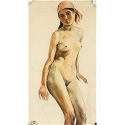 Isaac Israels Dutch Impressionist Watercolor Paper