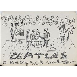 "John Lennon British Pop Pencil on Paper ""1962"""