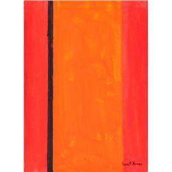 Barnett Newman American Abstract OOC Label