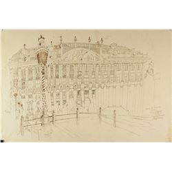Michael Jacques US Sketch Royal Palace of Brussels