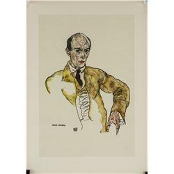 Egon Schiele Austrian Expressionist Signed Litho