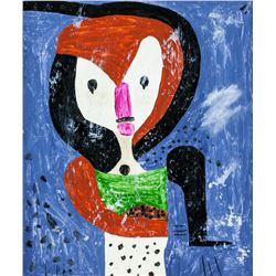 Paul Klee German Swiss Expressionist Oil on Canvas