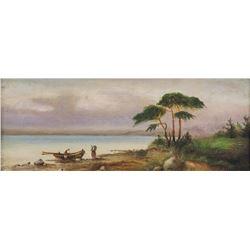 Constantin Hansen Danish Oil on Canvas Dated 1876