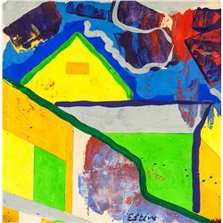 Maurice Esteve French Modernist Mixed Media Paper