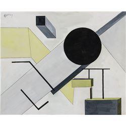 El Lissitzky Russian Suprematist Gouache on Paper