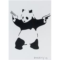 Banksy British Pop Art Lithograph on Paper Panda