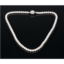 Magnetic Clasp Natural Pearl Necklace