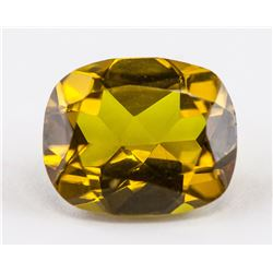 5.10 Ct Cushion Cut Golden Alexandrite Gemstone