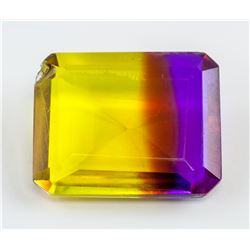 26 Ct Emerald Cut Multi-color Ametrine Gemstone
