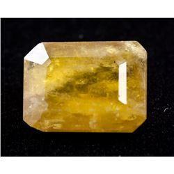 16.05Ct Emerald Cut Yellow Heliodor Beryl Gemstone