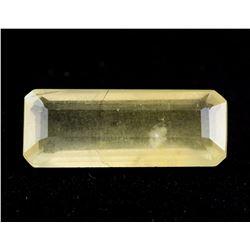 5.50 Ct Emerald Cut Yellow Heliodor Beryl Gemstone