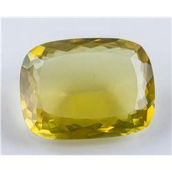 36.55 Ct Cushion Cut Yellow Citrine Gemstone GGL