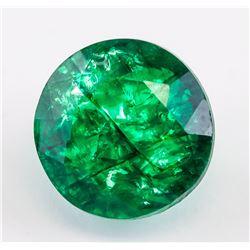 12.55 Ct Natural Cut Green Emerald GGL Certificate