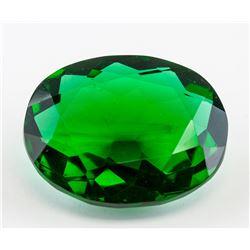 112.76 Ct Oval Cut Emerald Green Gemstone