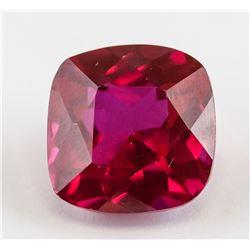 10.12 ct Cushion Cut Red Ruby Gemstone