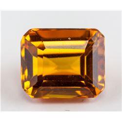 3.90ct Emerald Cut Golden Yellow Sapphire AGSL