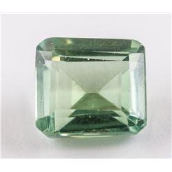 4.30 Ct Emerald Cut Green Sapphire Gemstone AGSL