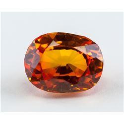 4.90 Ct Oval Cut Orange Sapphire Gemstone AGSL
