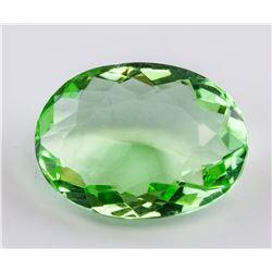 30 Ct Oval Cut Apple Green Topaz Gemstone