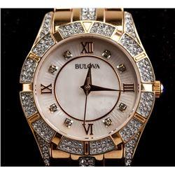 Bulova Ladies' Crystal Dial Watch