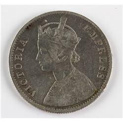 1884 British India 1 Rupee silver (.917) coin