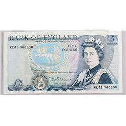 British 5 Pounds Banknote