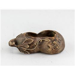 Chinese Wood Carved Gourd Waterpot