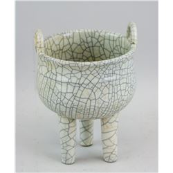 Chinese Song Style Crackle Porcelain Censer